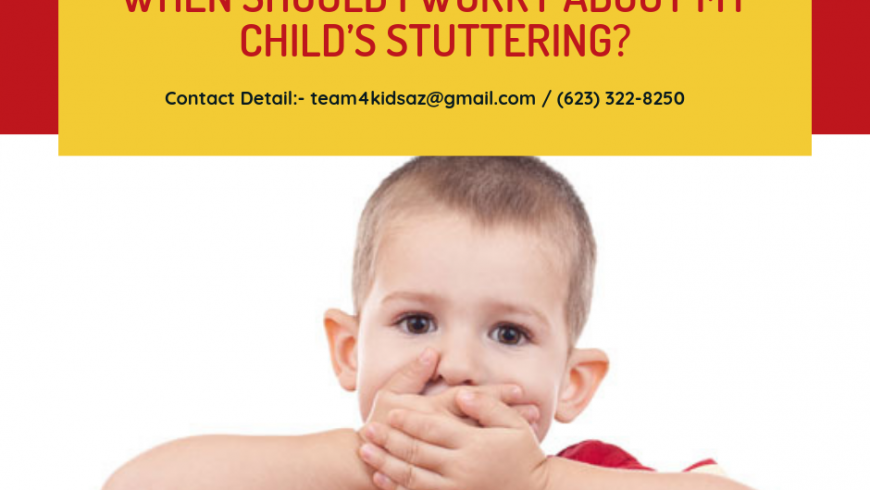 When should I worry about my child's stuttering?