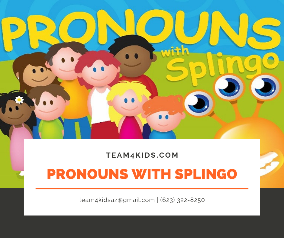 This week's app of the week is called: Splingo (Pronouns with Splingo)