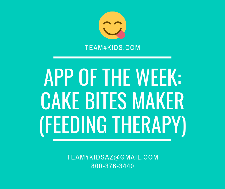 App of the Week: Cake Bites Maker (Feeding Therapy)