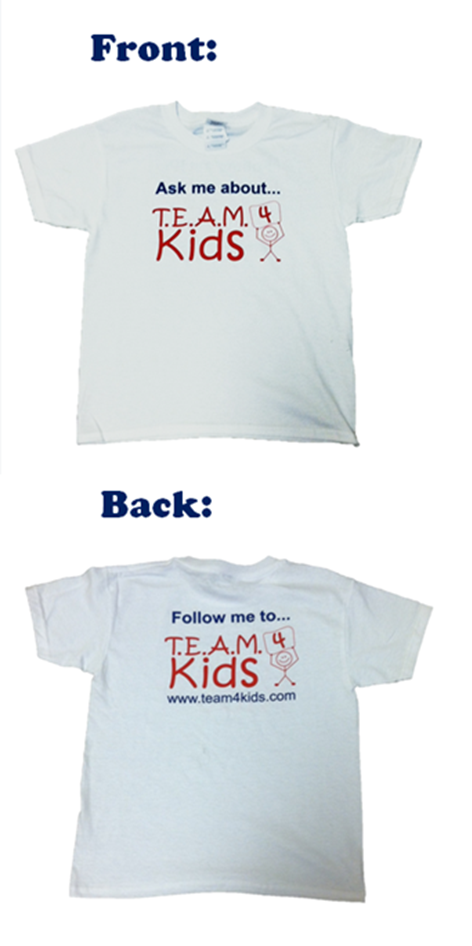 """Ask me about TEAM 4 Kids"" T-Shirt"