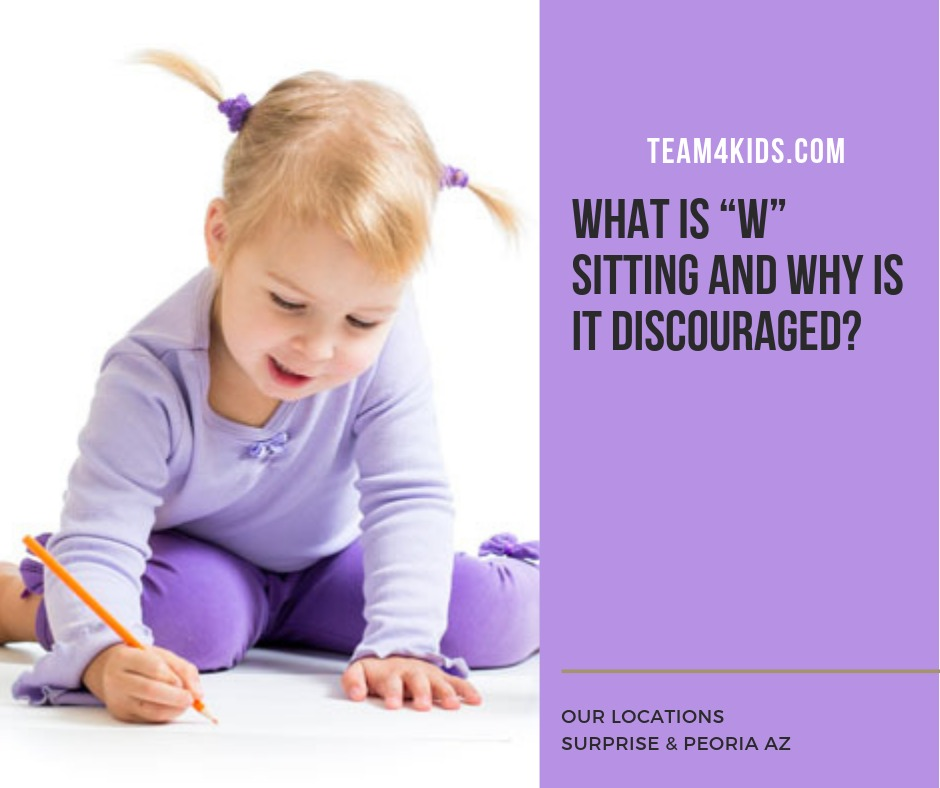 "What is ""W"" sitting and why is it discouraged?"