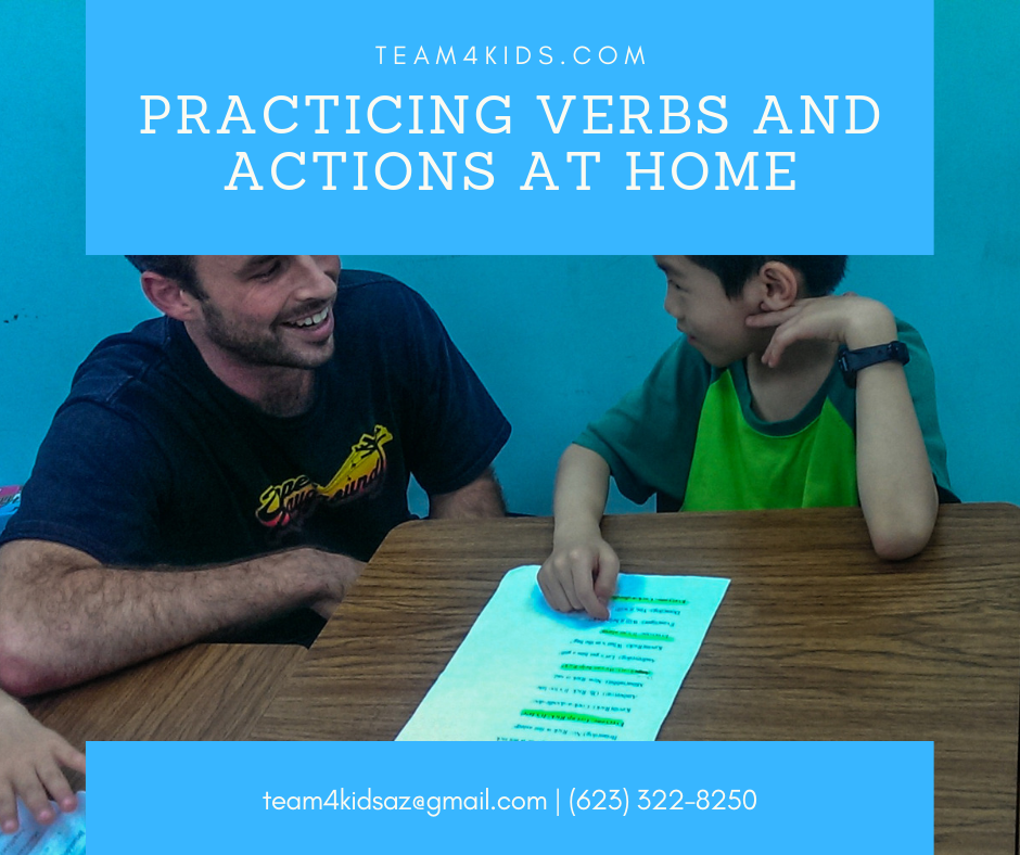Practicing Verbs And Actions At Home