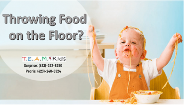 Throwing Food on the Floor?  Three tips for a less stressful meal and clean up…