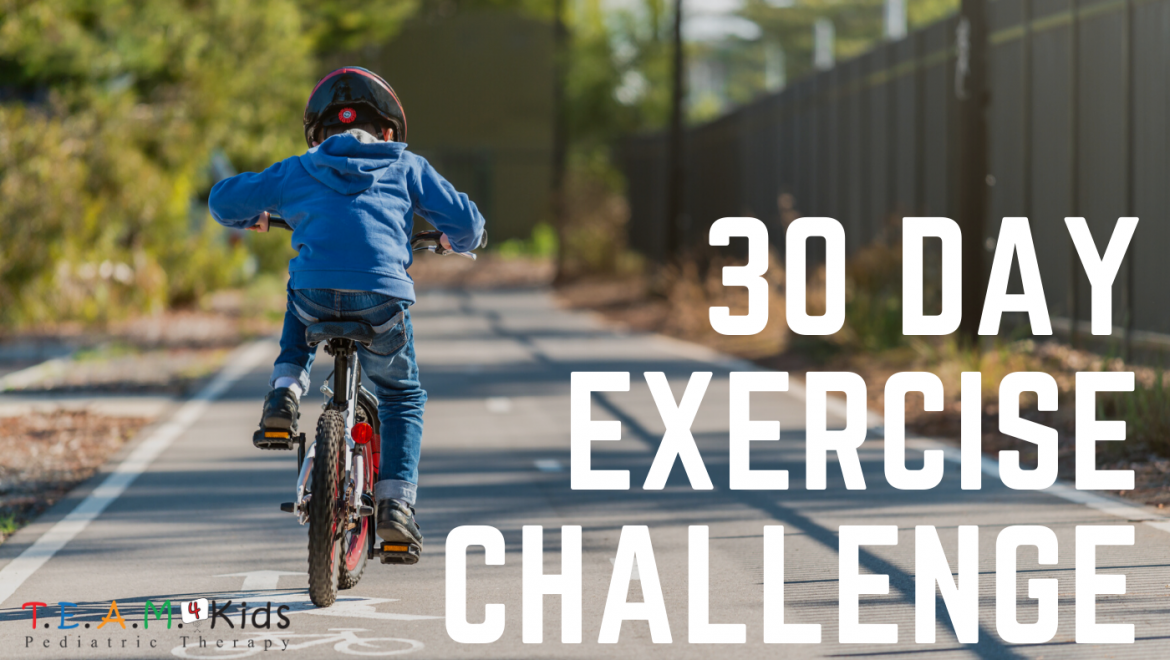 Kids 30-day Exercise Challenge, 30 Minutes a Day
