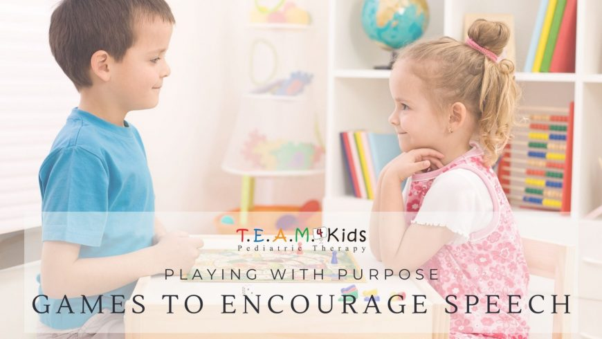 Playing with Purpose: Games to Encourage Speech