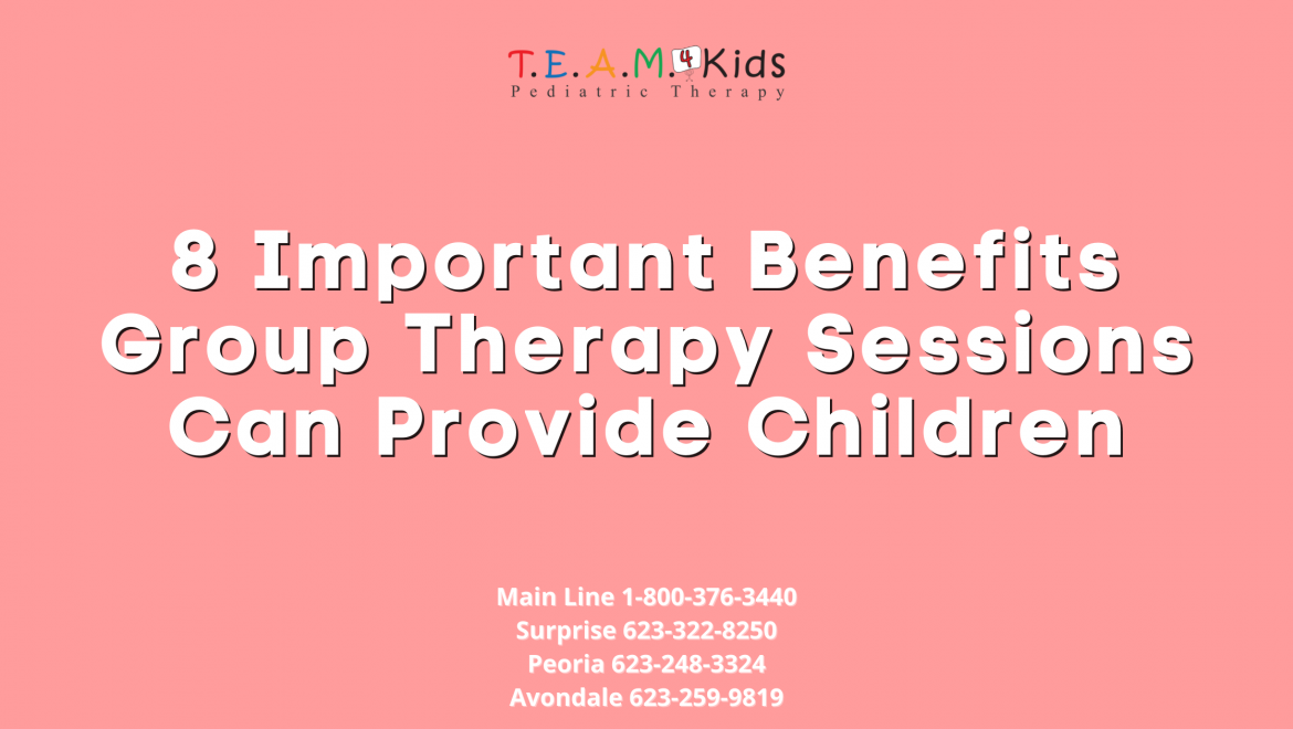 8 Important Benefits Group Therapy Sessions Can Provide Children