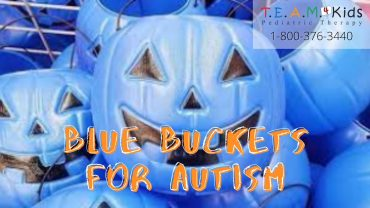Trick or Treat! Blue Buckets for Halloween